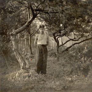 Flo's grandfather in the garden